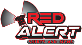 Red Alert Shirts and Signs