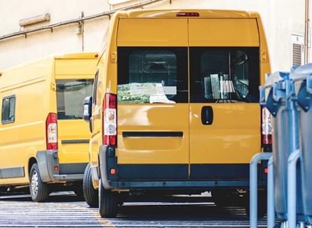 Yellow Delivery Vans, Vinyl Signs, Tarpon Springs, FL